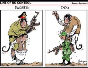 टाइम्स ऑफ़ इंडिया में संदीप अधवार्व्यु का कार्टून।