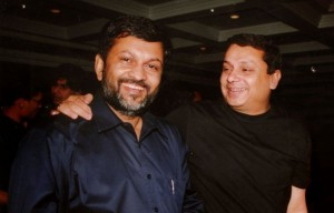 स्टार इंडिया प्रमुख उदय शंकर के साथ इंडिया टीवी के मैनेजिंग एडिटर अजीत्त अंजुम (दायें)