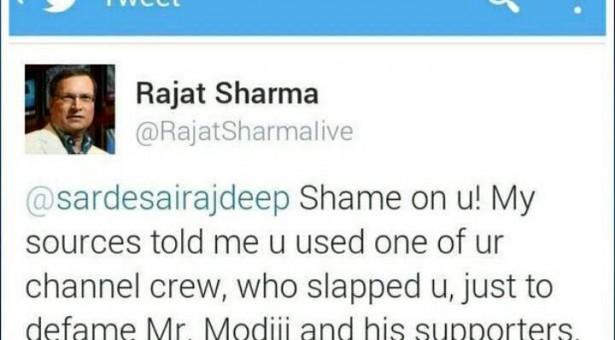 इंडिया टीवी वाले रजत शर्मा ने राजदीप सरदेसाई को कैसे कह दिया – Shame on you!