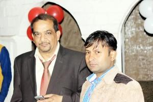 अमित सैनी भास्कर न्यूज़ के सीओओ दिवाकर शर्मा के साथ
