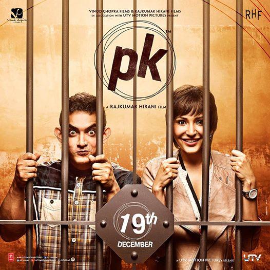 फिल्म पीके में आमिर और अनुष्का