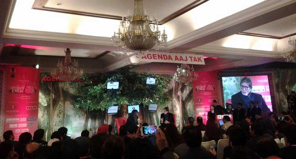 अमिताभ बच्चन से बातचीत करती श्वेता सिंह - AagTak #Agenda14