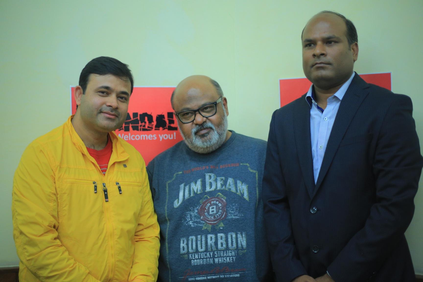 Sagar Sahay (Director), Mr. Saurabh Shukla (Actor) and Rajeev Roushan (Producer)