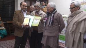 पत्रकार उमेश चतुर्वेदी का दिल्ली में सम्मान