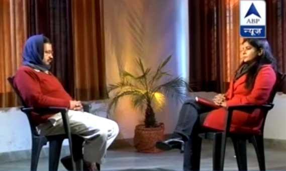 एबीपी न्यूज पर अरविंद केजरीवाल