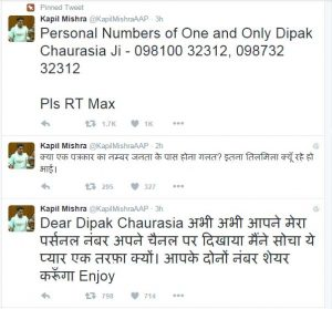 kapil mishra tweet on deepak chaurasia