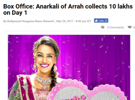 anarkali of arrah box office collection