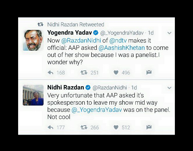 yogendra yadav nidhi rajdan tweet