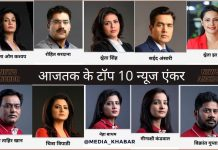 aajtak top 10 news anchor